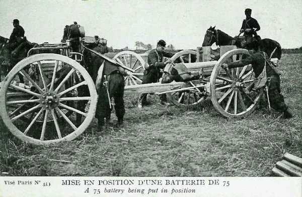 Mise en place d'un canon de 75 - 43ko